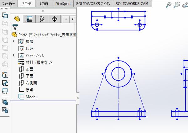 SOLIDWORKS超入門:インポートしたDXFデータからモデルを作成し